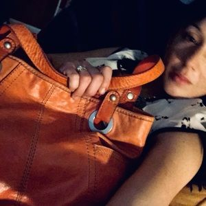 """Fossil """"long live vintage"""" leather purse"""